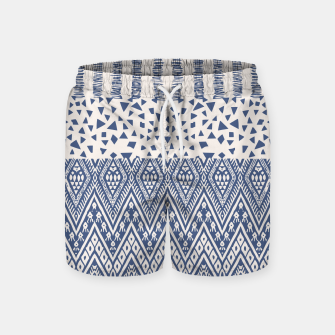 Thumbnail image of Farmhouse Rustic Boho Oriental Moroccan Shapes Design Swim Shorts, Live Heroes