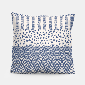 Thumbnail image of Farmhouse Rustic Boho Oriental Moroccan Shapes Design Pillow, Live Heroes
