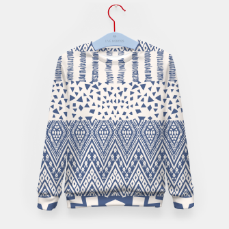 Thumbnail image of Farmhouse Rustic Boho Oriental Moroccan Shapes Design Kid's sweater, Live Heroes