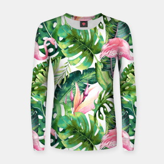 Thumbnail image of Flamingo Tropical II Women sweater, Live Heroes