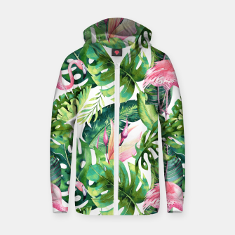 Thumbnail image of Flamingo Tropical II Zip up hoodie, Live Heroes