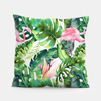 Thumbnail image of Flamingo Tropical II Pillow, Live Heroes