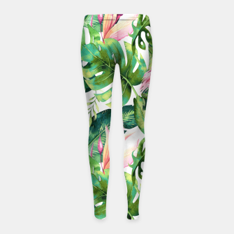 Thumbnail image of Flamingo Tropical II Girl's leggings, Live Heroes