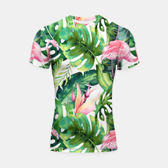 Thumbnail image of Flamingo Tropical II Shortsleeve rashguard, Live Heroes
