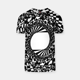 Miniaturka Abstract geometric pattern - black and white. T-shirt, Live Heroes