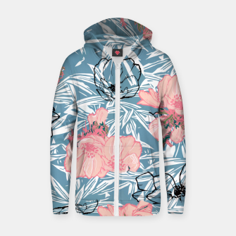 Thumbnail image of Backyard Palm Zip up hoodie, Live Heroes