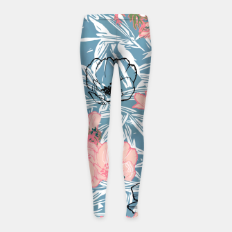 Thumbnail image of Backyard Palm Girl's leggings, Live Heroes
