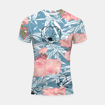 Thumbnail image of Backyard Palm Shortsleeve rashguard, Live Heroes