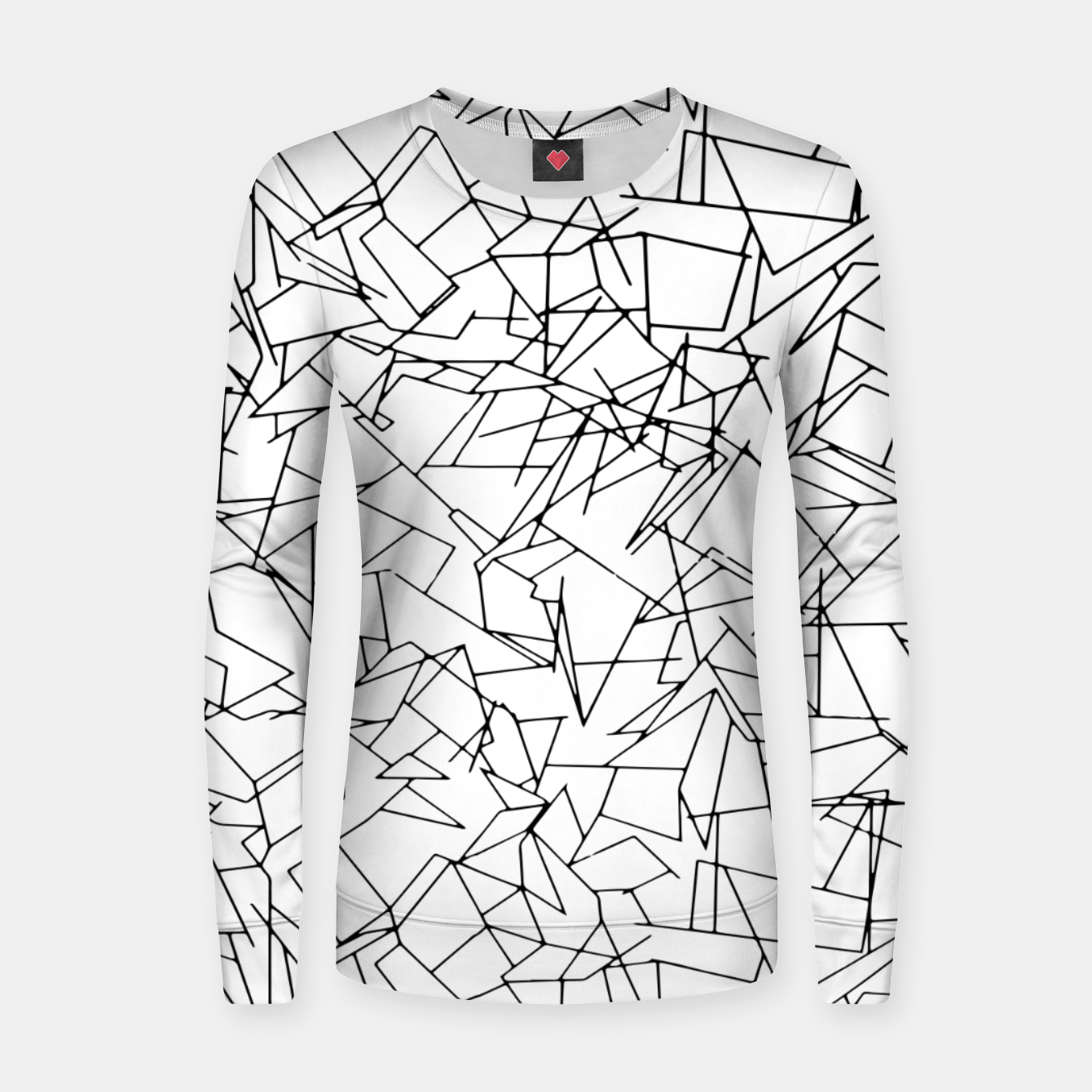 Image of B & W Mess Women sweater - Live Heroes