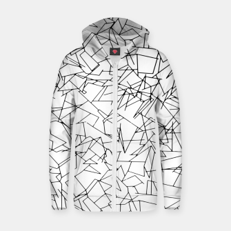 B & W Mess Zip up hoodie thumbnail image