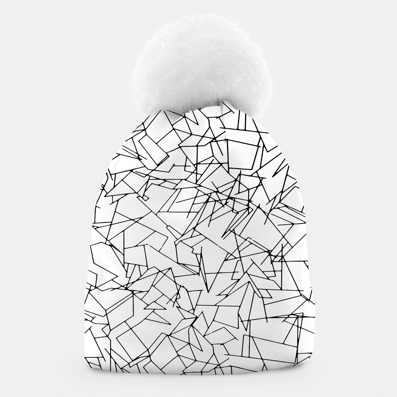 Image of B & W Mess Beanie - Live Heroes