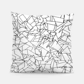 Thumbnail image of B & W Mess Pillow, Live Heroes