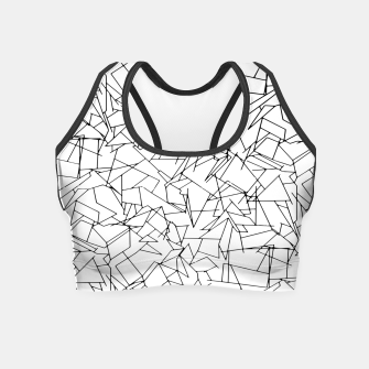Thumbnail image of B & W Mess Crop Top, Live Heroes