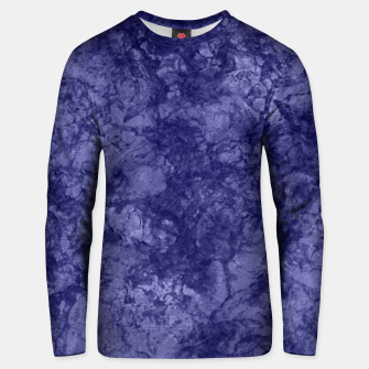 Dark purple violet marble textured suede granite smoke wall stone Unisex sweater thumbnail image