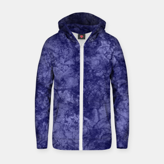 Dark purple violet marble textured suede granite smoke wall stone Zip up hoodie thumbnail image