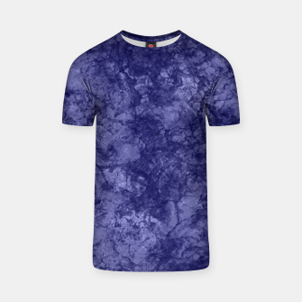 Dark purple violet marble textured suede granite smoke wall stone T-shirt thumbnail image