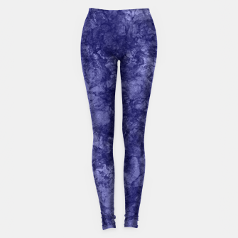 Thumbnail image of Dark purple violet marble textured suede granite smoke wall stone Leggings, Live Heroes