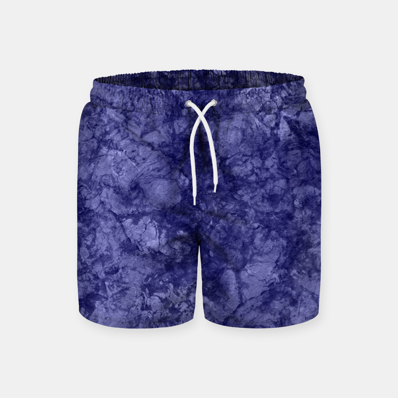 Image of Dark purple violet marble textured suede granite smoke wall stone Swim Shorts - Live Heroes