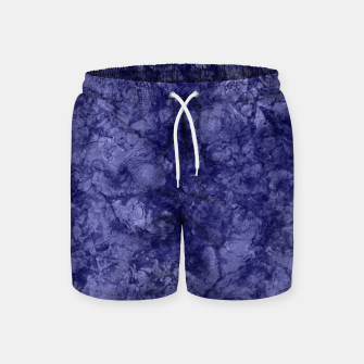 Dark purple violet marble textured suede granite smoke wall stone Swim Shorts thumbnail image