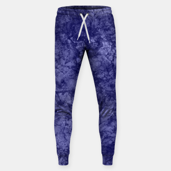 Dark purple violet marble textured suede granite smoke wall stone Sweatpants thumbnail image