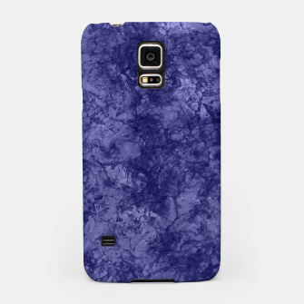 Dark purple violet marble textured suede granite smoke wall stone Samsung Case thumbnail image
