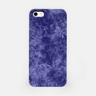 Dark purple violet marble textured suede granite smoke wall stone iPhone Case thumbnail image