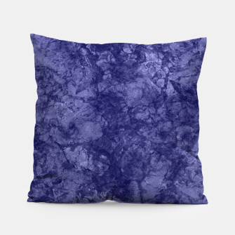 Dark purple violet marble textured suede granite smoke wall stone Pillow thumbnail image