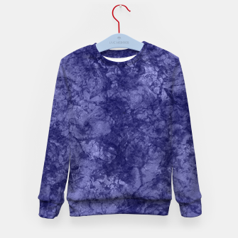 Dark purple violet marble textured suede granite smoke wall stone Kid's sweater thumbnail image