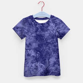 Dark purple violet marble textured suede granite smoke wall stone Kid's t-shirt thumbnail image