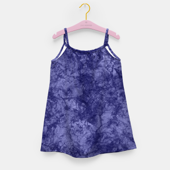 Dark purple violet marble textured suede granite smoke wall stone Girl's dress thumbnail image