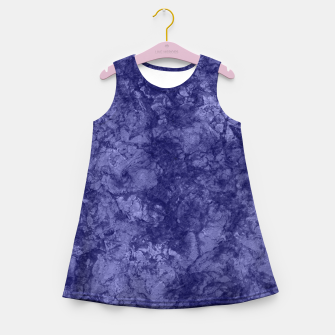 Dark purple violet marble textured suede granite smoke wall stone Girl's summer dress thumbnail image