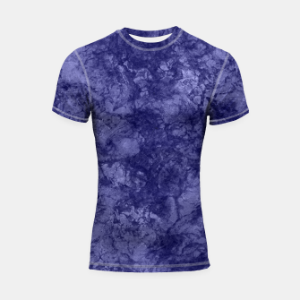 Dark purple violet marble textured suede granite smoke wall stone Shortsleeve rashguard thumbnail image