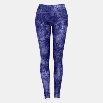 Dark purple violet marble textured suede granite smoke wall stone Leggings thumbnail image
