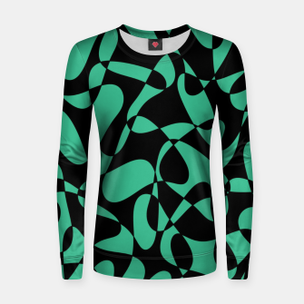 Thumbnail image of Abstract pattern - black and green. Women sweater, Live Heroes