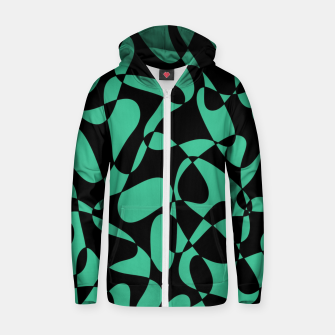 Thumbnail image of Abstract pattern - black and green. Zip up hoodie, Live Heroes