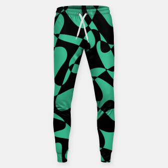 Thumbnail image of Abstract pattern - black and green. Sweatpants, Live Heroes