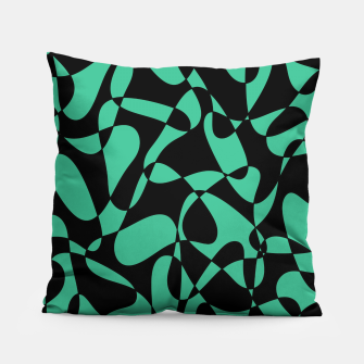 Thumbnail image of Abstract pattern - black and green. Pillow, Live Heroes