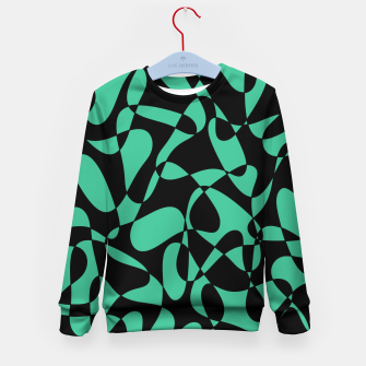Thumbnail image of Abstract pattern - black and green. Kid's sweater, Live Heroes