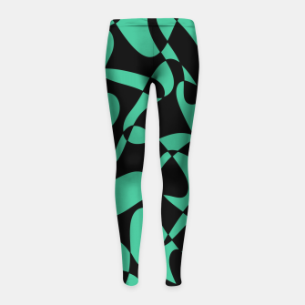 Thumbnail image of Abstract pattern - black and green. Girl's leggings, Live Heroes