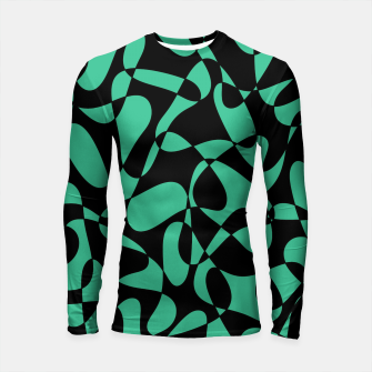 Thumbnail image of Abstract pattern - black and green. Longsleeve rashguard , Live Heroes