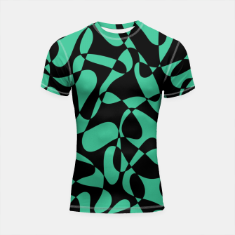 Thumbnail image of Abstract pattern - black and green. Shortsleeve rashguard, Live Heroes