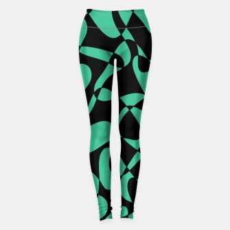 Thumbnail image of Abstract pattern - black and green. Leggings, Live Heroes