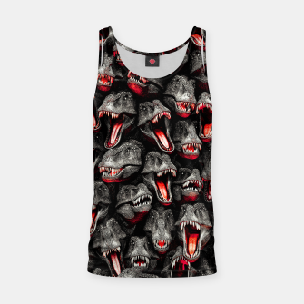 Thumbnail image of T-Rex Feeding Time Tank Top, Live Heroes