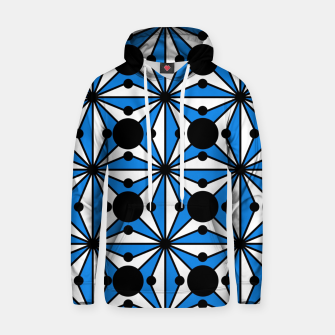 Miniaturka Abstract geometric pattern - blue and white. Hoodie, Live Heroes
