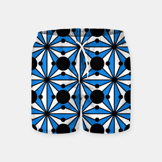 Miniaturka Abstract geometric pattern - blue and white. Swim Shorts, Live Heroes