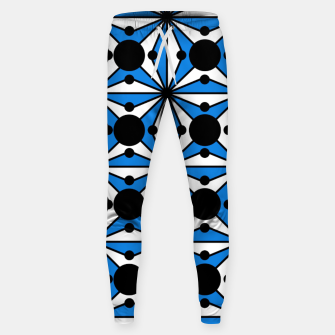 Miniaturka Abstract geometric pattern - blue and white. Sweatpants, Live Heroes