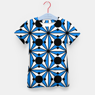 Imagen en miniatura de Abstract geometric pattern - blue and white. Kid's t-shirt, Live Heroes