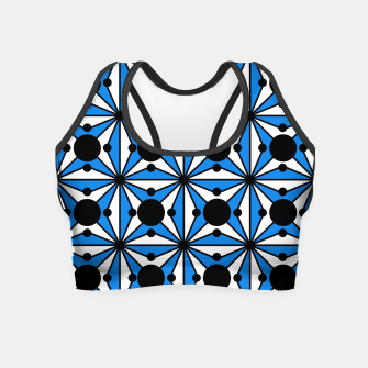 Miniaturka Abstract geometric pattern - blue and white. Crop Top, Live Heroes