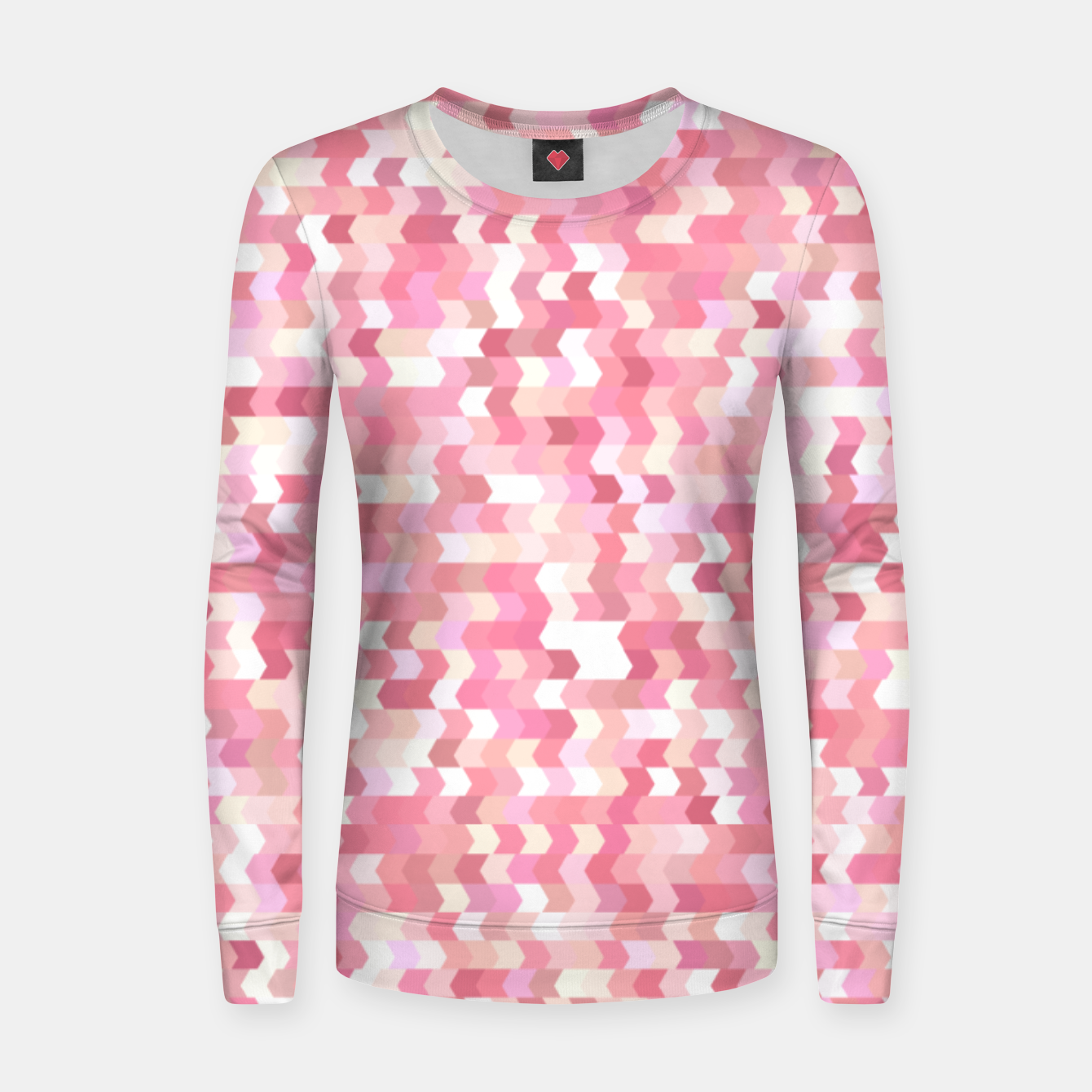 Foto Solid arrows in soft pink shades, cute baby flush pink pattern Women sweater - Live Heroes