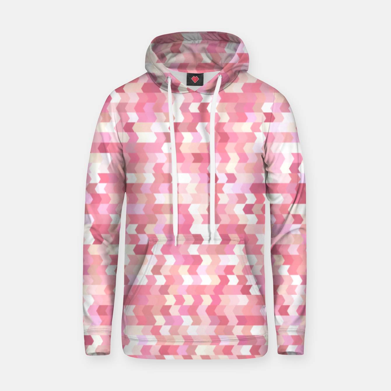 Foto Solid arrows in soft pink shades, cute baby flush pink pattern Hoodie - Live Heroes